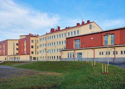 Lempoisten koulun laajennus / peruskorjaus - julkisivu
