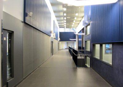 Siivikkalan koulun laajennus / perusparannus - värit porraskäytävässä
