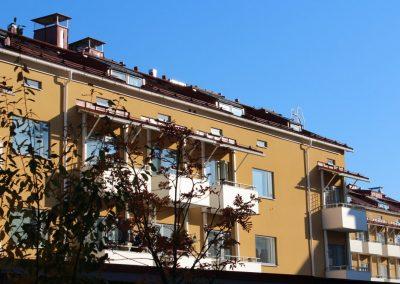 TVA rakentaminen - ullakko, hissit ja parvekkeet